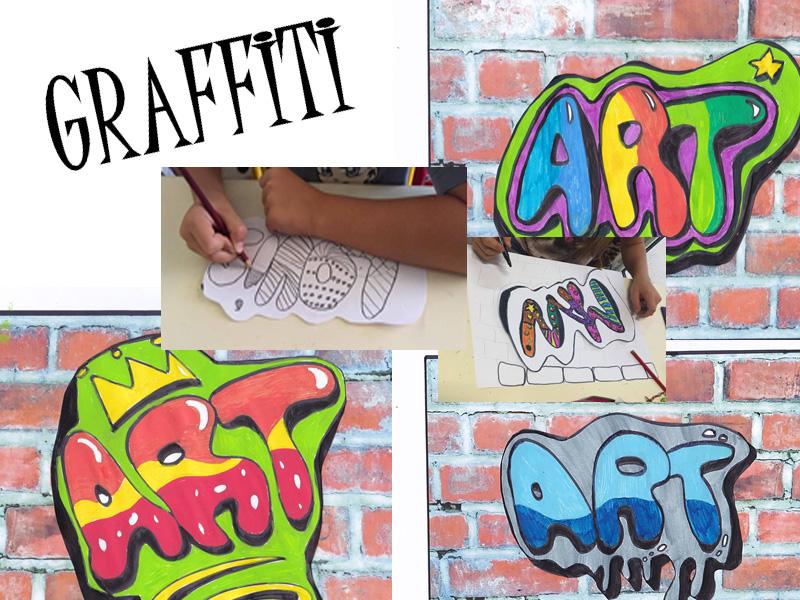 Graffiti lettering Street art activity