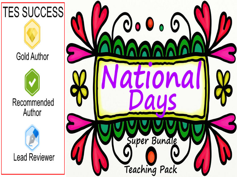 Autumn Term National Days And Celebrations Pack