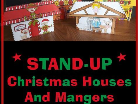 STAND-UP Christmas Houses and Mangers