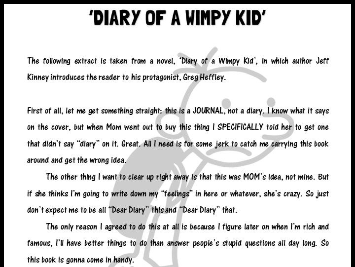 'Diary of a Wimpy Kid' extract