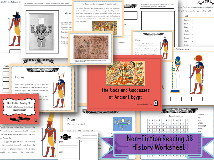 History Worksheet for KS2&ESL,EFL class - The Gods and Goddesses of Ancient Egypt