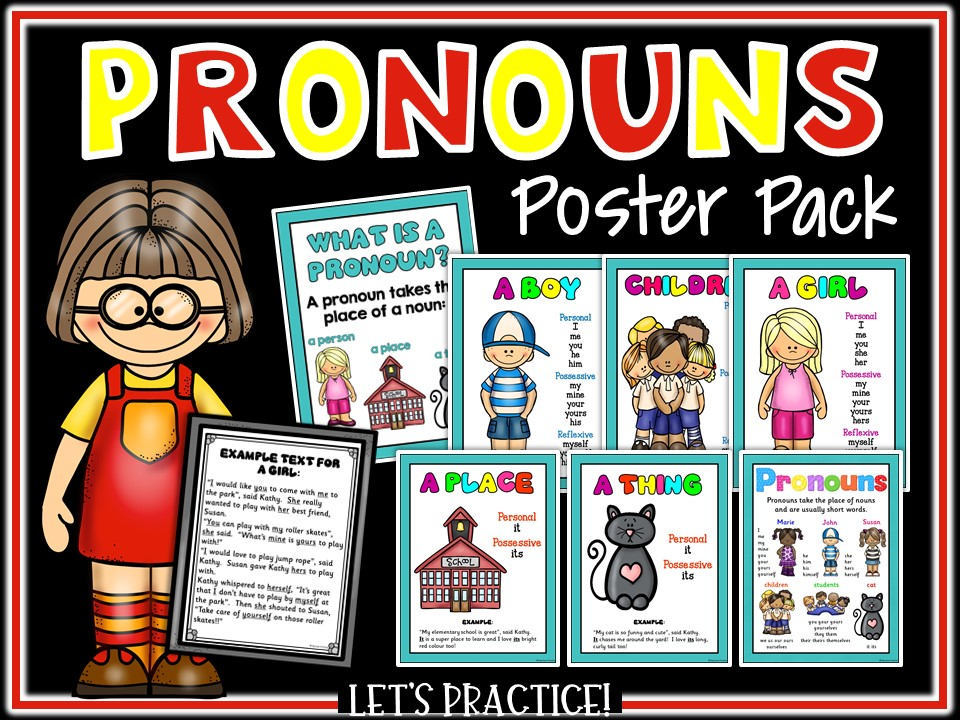 SPAG: Pronouns Reference and Display Poster Set