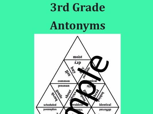 3rd Grade Antonyms – Puzzle