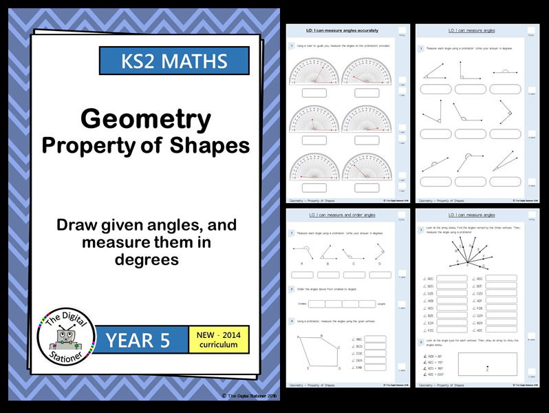 Year 5 - Draw and measure angles -  Geometry - Property of Shapes White Rose (INC. MASTERY)