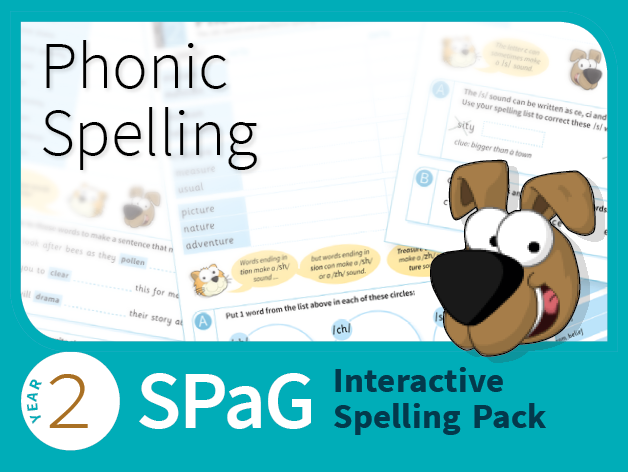 Year 2 SPaG Interactive Spelling Pack - Phonic Spelling