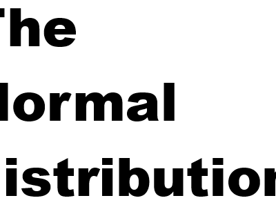 The normal distribution workbooks