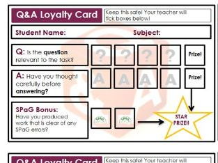 Q&A Loyalty Cards