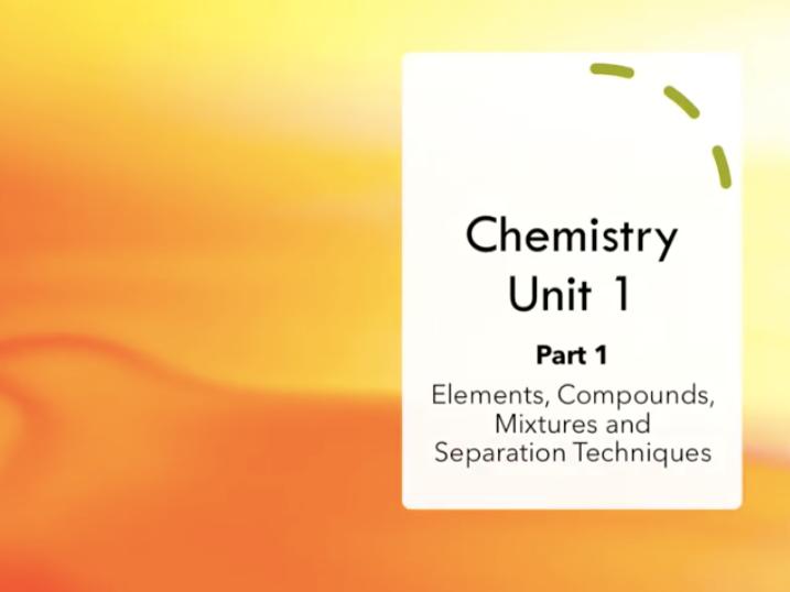 GCSE AQA Chemistry Revision Video Unit 1 - PART 1/3