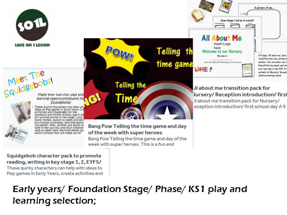 Early years/ Foundation Stage/ Phase play and learning selection. Maths, transition, exploration. KS1/Early years