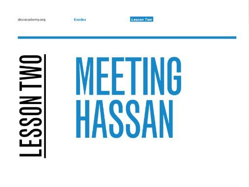 "Exodus English KS3-5 Lesson #2 ""Meeting Hassan"""