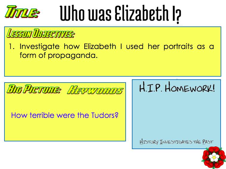 Elizabeth I Portrait lesson