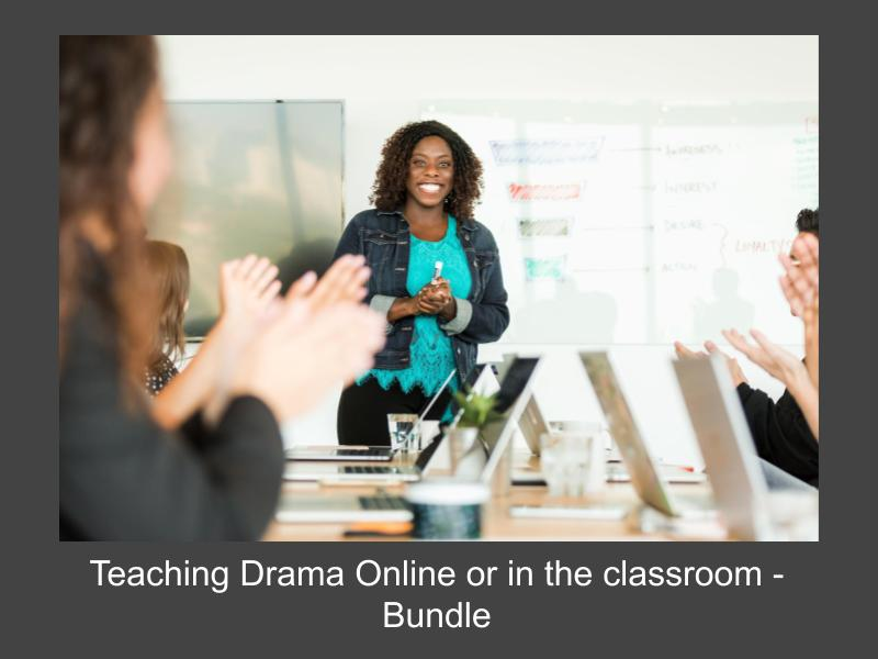 Teaching Drama Online or in the Classroom based bundle