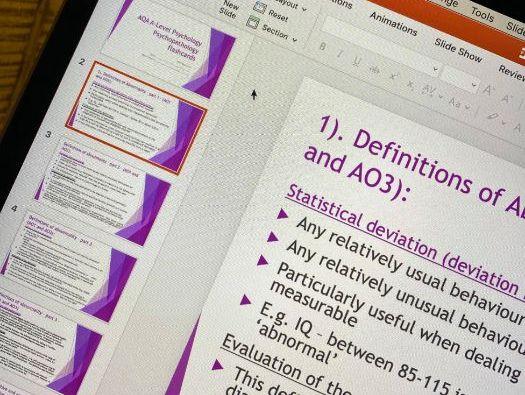 AQA A-Level Psychology - Psychopathology revision PowerPoint