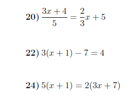 Solving linear equations worksheet (with solutions)