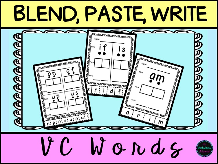 VC Words Blending and Segmenting Activity