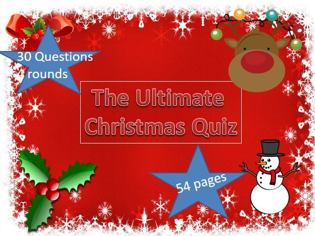 The Ultimate Christmas Quiz