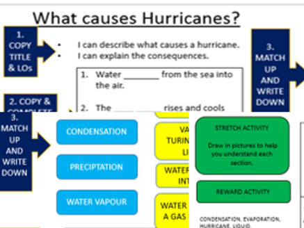 Hurricanes - EAL lesson sheets & homework.