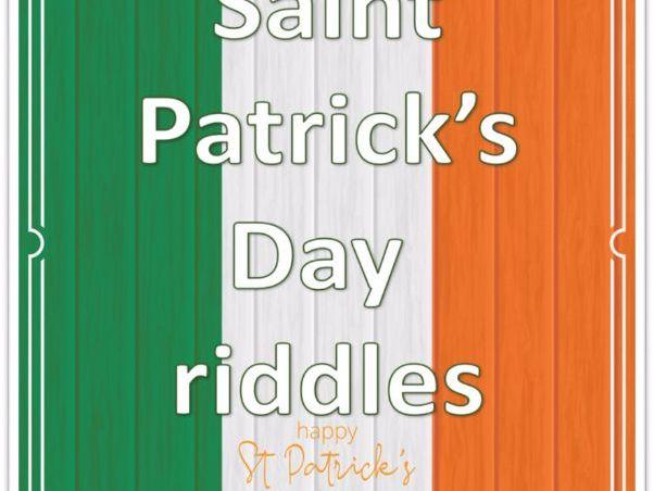 Saint Patrick's day rhyming riddles.
