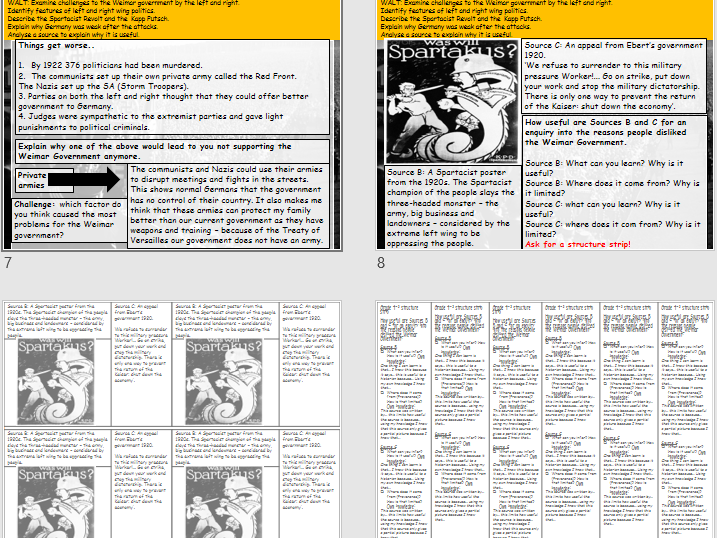 Spartacist Uprising and Kapp Putsch (Weimar and Nazi Germany: Edexcel 9-1)