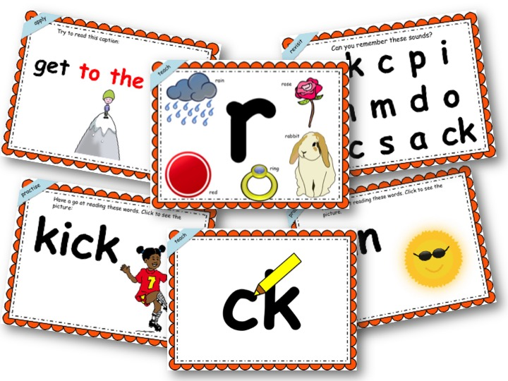 Phonics Powerpoint, Phase 2, Week 4 (ck,e,u,r +the,to)