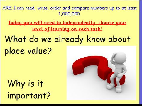 Place value, read, write, order and sequence  numbers Revision Lesson Pack