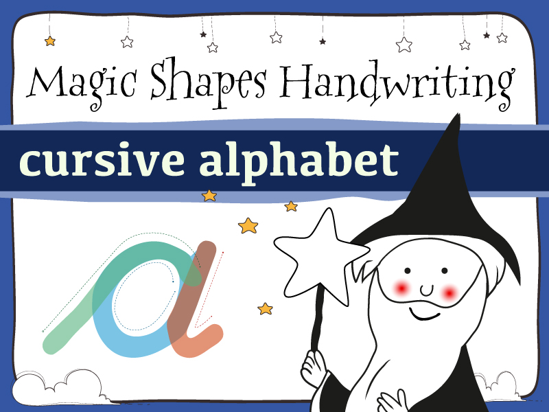 Magic Shapes Handwriting: cursive letters