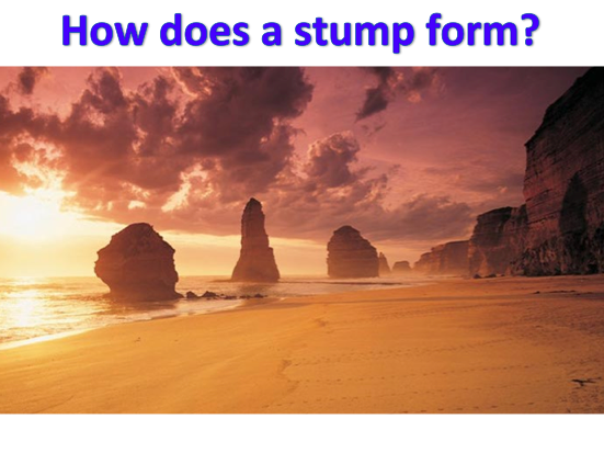 KS3 Coasts - How does a Stump form?