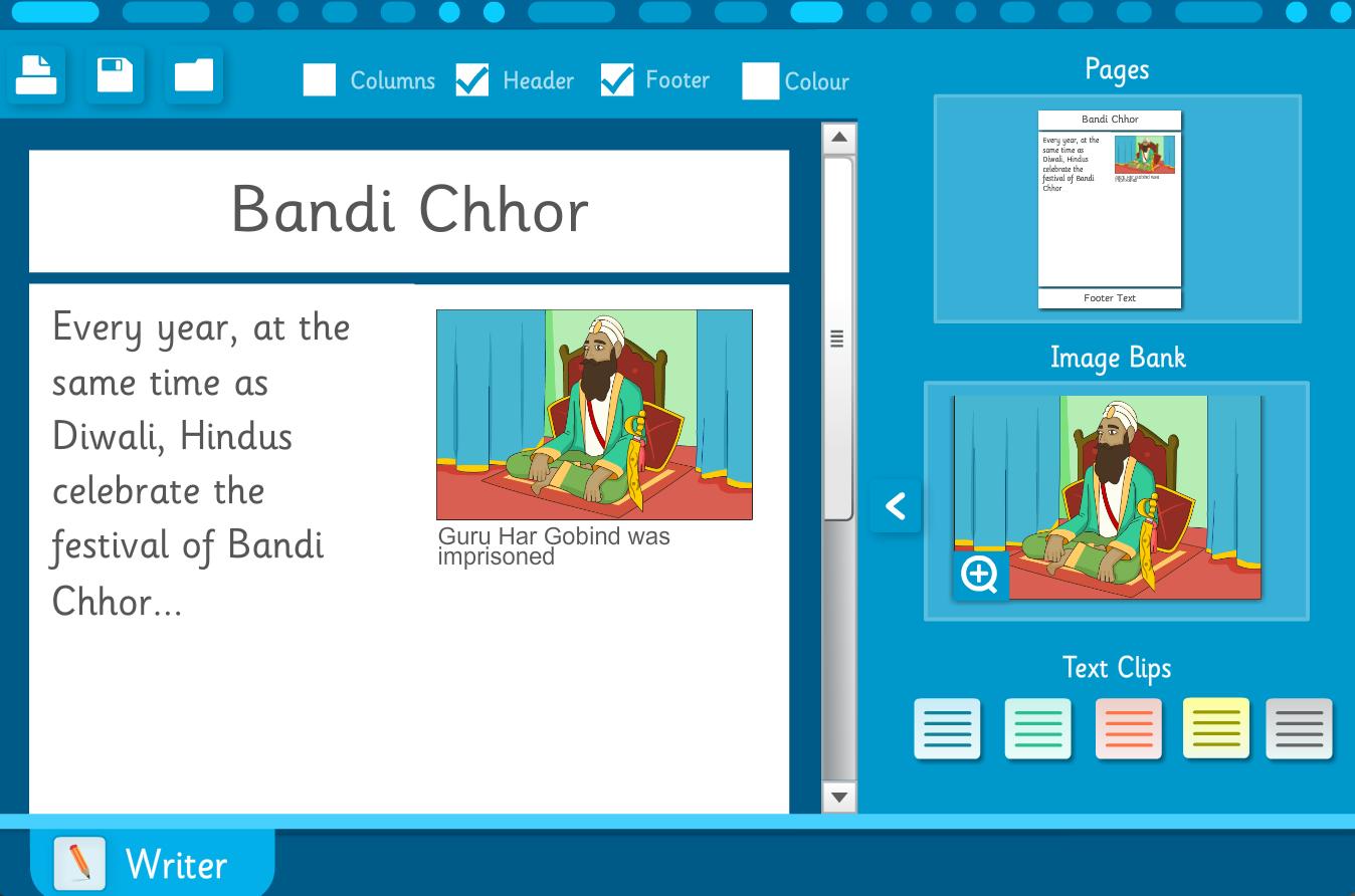 Diwali Interactive Writing Template - Diwali KS1