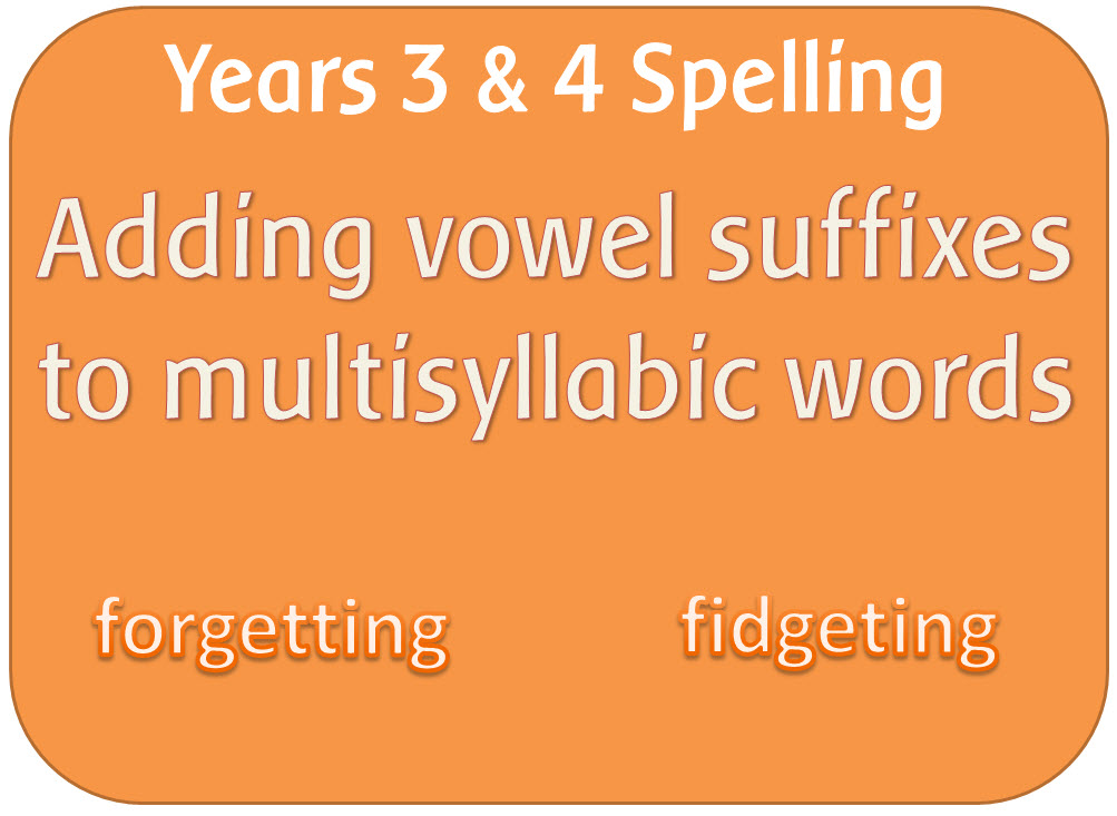 SPaG Year 3 & 4 Spelling: Adding suffixes beginning with vowels to words of more than one syllable