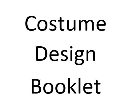 Costume design booklet