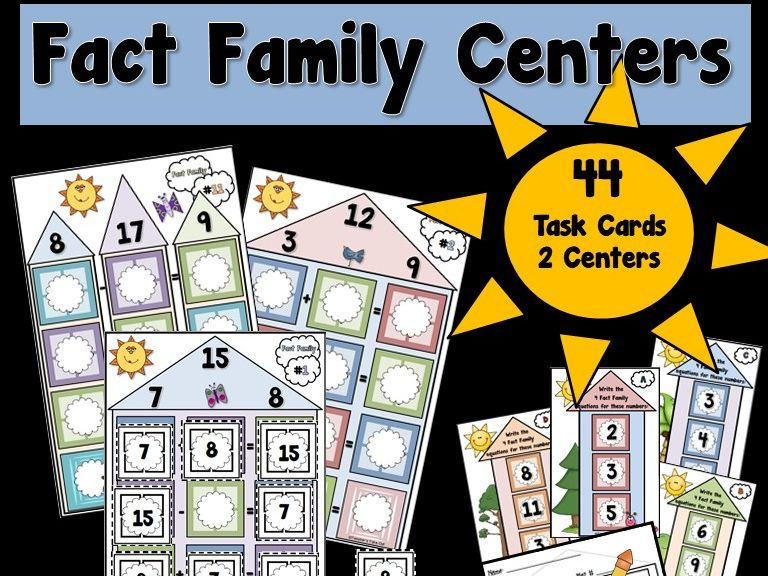 Fact Family Centers using Addition and Subtraction