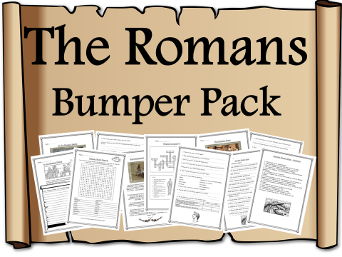 The Romans / Rome Bumper Pack - assembly, reading comprehensions, Roman day resource, activity pack