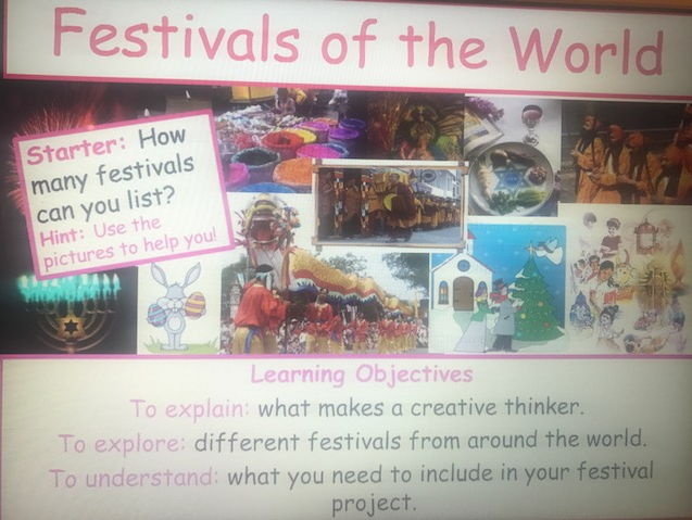 Year 7 Unit of Learning - Festivals