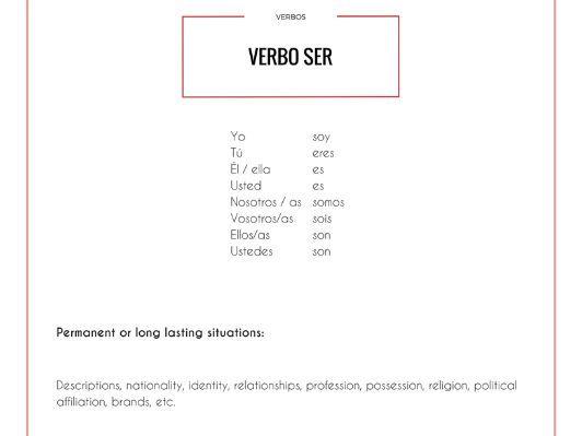 Spanish verbs practice booklet - Cuaderno para practicar verbos españoles