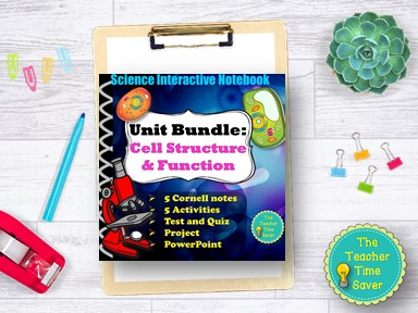 Cells Mitosis Meiosis Organelles Curriculum Bundle