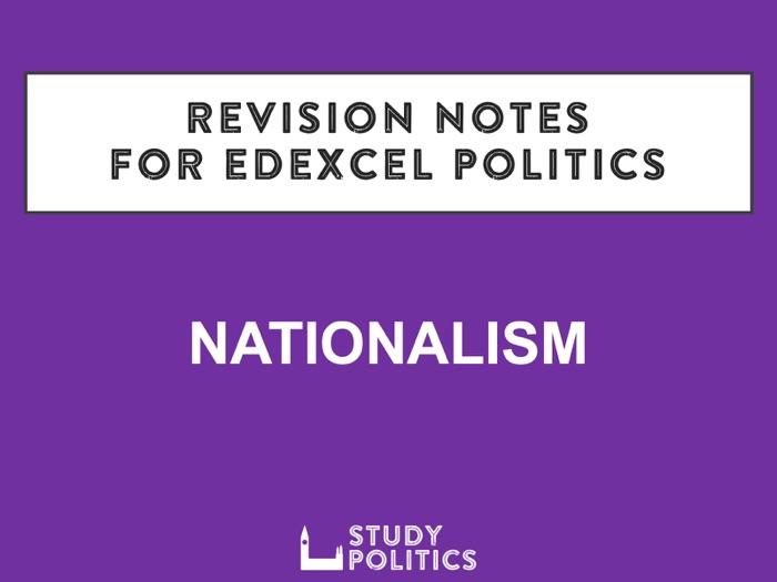 Edexcel Revision Notes: Nationalism