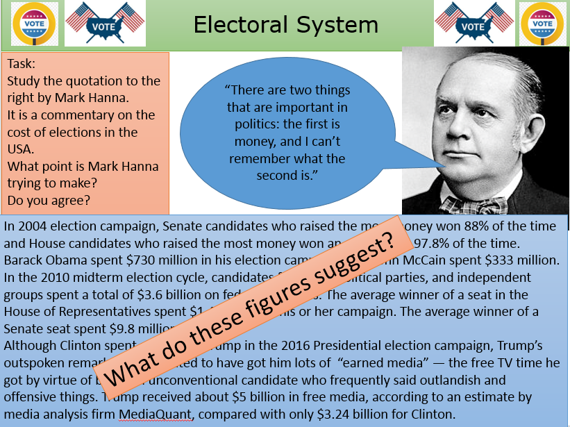 US Presidential Elections - Picking VP - Party Conventions and Campaign finance