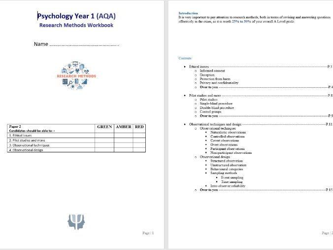 Research Methods 3 Student Workbook