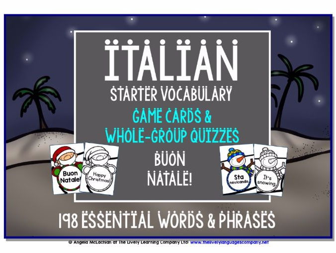 ITALIAN CHRISTMAS DESIGN GAMES & QUIZZES