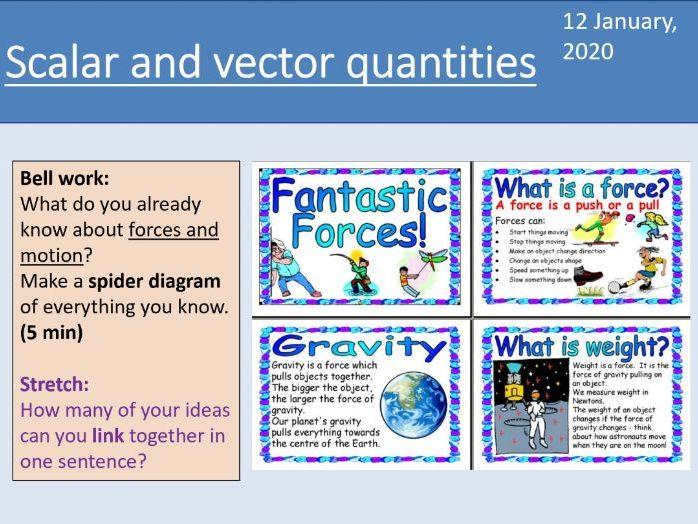 GCSE Physics - Scalars and vectors - Forces Unit 5.1.1 (AQA 9-1)