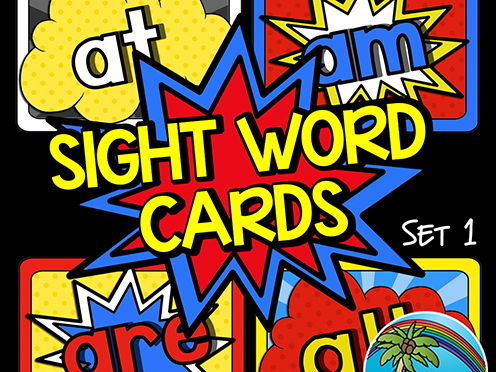 Superhero Sight Words Set 1