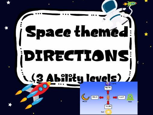 Space themed Directions. 3 levels