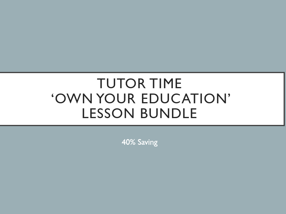 Tutor Time 'Own Your Education' Bundle