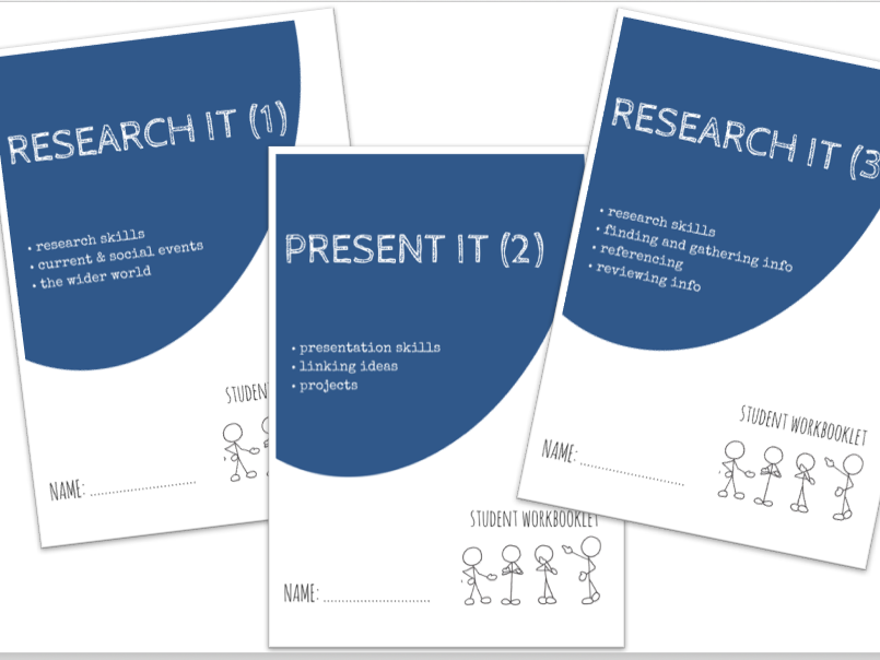 RESEARCH & PRESENT IT bundle - x3 workbooklets