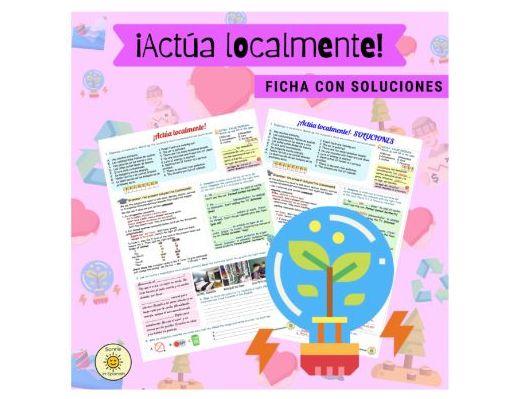 ¡Actúa localmente! Subjuntivo. Órdenes.Hacia un mundo mejor. Con soluciones. Spanish GCSE. Answers