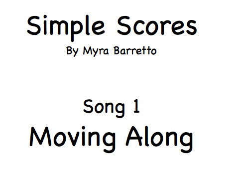 Simple Scores.  An easy arrangement for beginner orchestra. 1. Moving Along