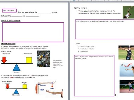 AQA GCSE PE Movement Analysis; Levers, planes and Axes