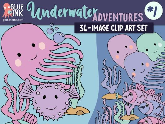 Underwater Adventure #1 Clip Art – Commercial Use