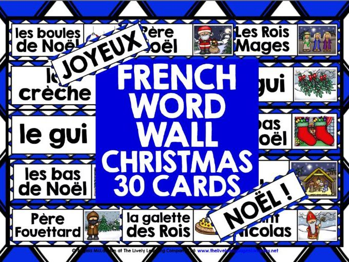 CHRISTMAS: FRENCH CHRISTMAS WORD WALL