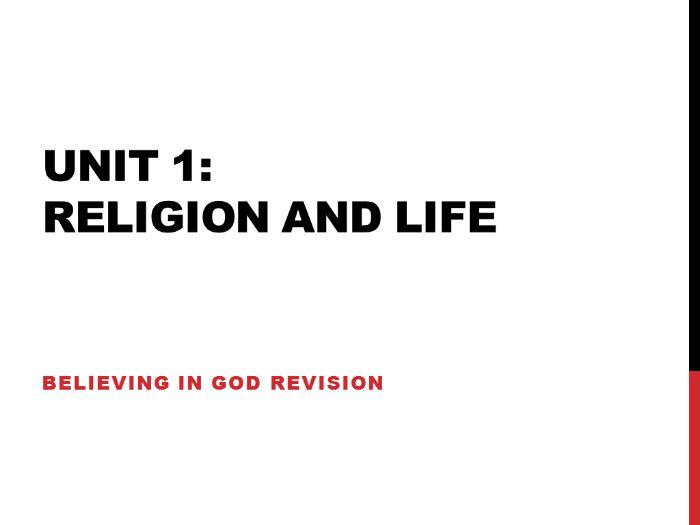 Edexcel Religious Studies Unit 1 Believing in God (2009 spec)